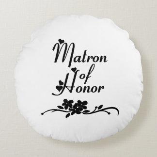 Weddings Matron Of Honor Round Pillow
