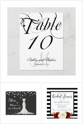 Weddings Minimalist-Black and White