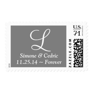 Weddings More Weight Letters Gray Postage