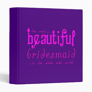 Weddings Party Favors Thanks Beautiful Bridesmaid 3 Ring Binders