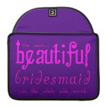 Weddings Party Favors Thanks Beautiful Bridesmaid Sleeves For MacBook Pro