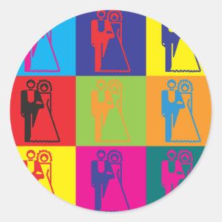 Weddings Pop Art Classic Round Sticker