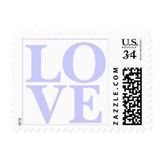 Weddings Pretty Love Lavender Blue RSVP Invitation Postage Stamp