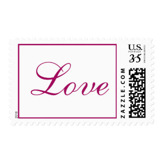 Weddings Pretty Love Letters Raspberry Postage Stamps