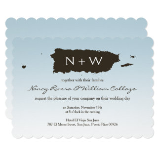 Weddings: Puerto Rico: Map: Blue Card