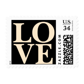 Weddings Trendy Stylish Love Blanched Almond Postage