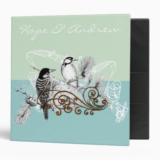Weddng Planner Binder Vintage Love Birds