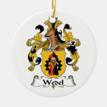 Wedel Family Crest Double-Sided Ceramic Round Christmas Ornament