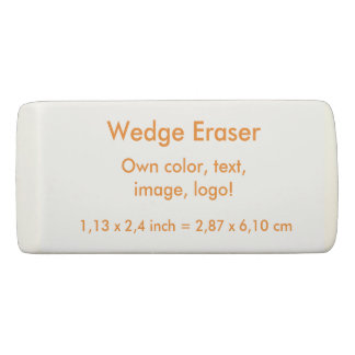 Wedge Eraser uni White ~ Own Color