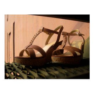Wedge Sandal on Stairs Postcard