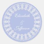 Wedgewood Blue1 que casa el sobre sella/pegatina