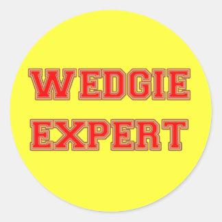 Wedgie Expert Classic Round Sticker