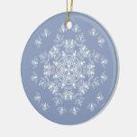 Wedgwewood Blue Angel Snowflake Ornament