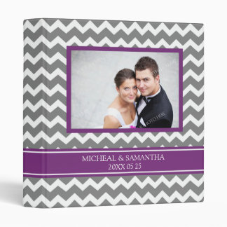 Weding Photo Binder Purple Grey Chevrons