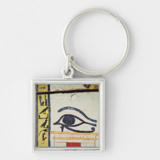 Wedjat Eye, detail from the sarcophagus cover of t Keychain