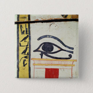 Wedjat Eye, detail from the sarcophagus cover of t Pinback Button