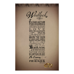 Wedding Marriage Poems Posters Photo Prints Zazzle