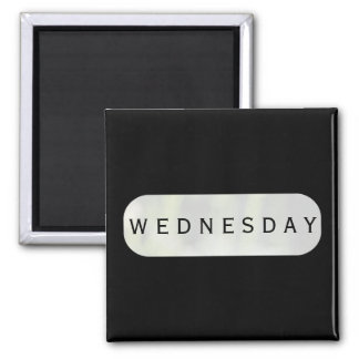 Wednesday Black Square Magnet by Janz