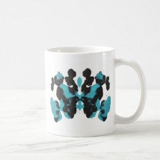 Wednesday Blue Inkblot Design Mug