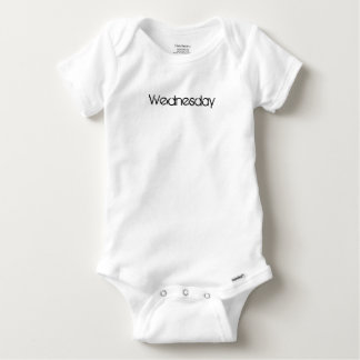 Wednesday cute baby one piece day of the week baby onesie