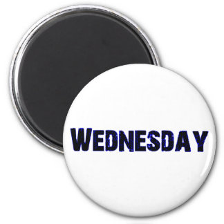Wednesday Day of the Week Merchandise 2 Inch Round Magnet