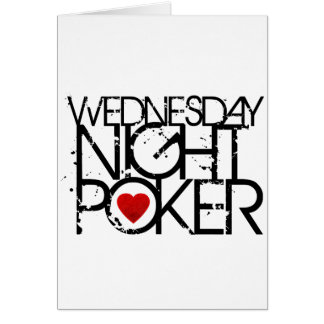 Wednesday Night Poker Card