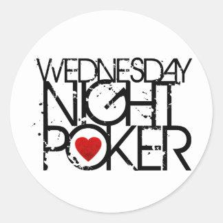 Wednesday Night Poker Classic Round Sticker