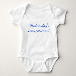 """Wednesday's, child is full of woe..."" Baby Bodysuit"