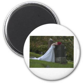 WedParentsGrave091810 2 Inch Round Magnet