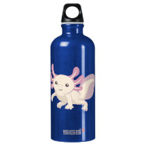 Wee Adorable Axolotl Aluminum Water Bottle
