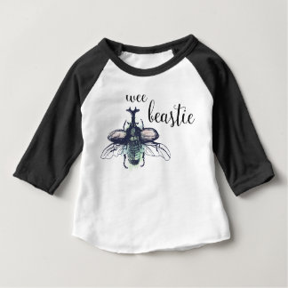 Wee Beastie • Insect watercolor unisex clothing Baby T-Shirt