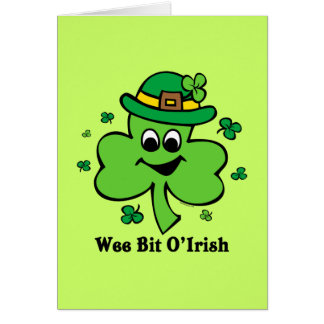 Wee Bit O' Irish Card