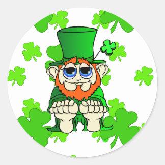 Wee Bit O Irish Classic Round Sticker