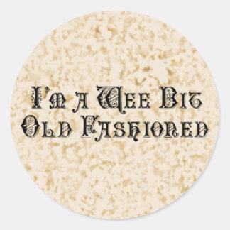 Wee Bit Old Fashioned Classic Round Sticker