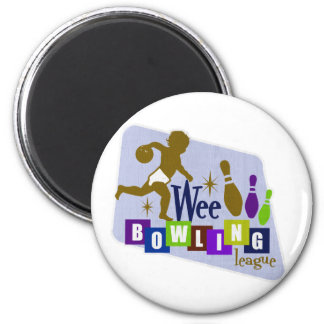 Wee Bowling League 2 Inch Round Magnet