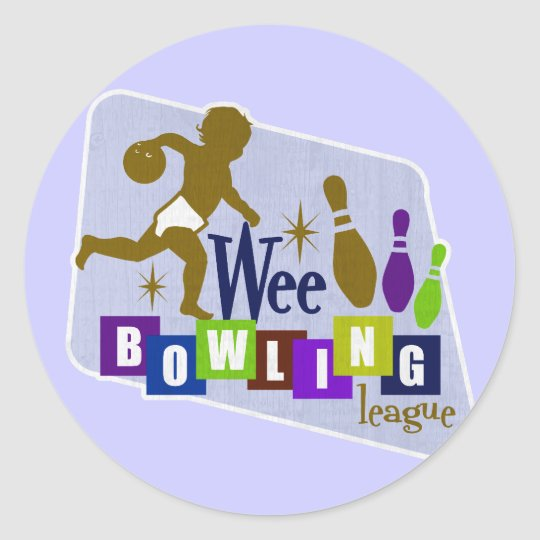 Wee Bowling League Classic Round Sticker