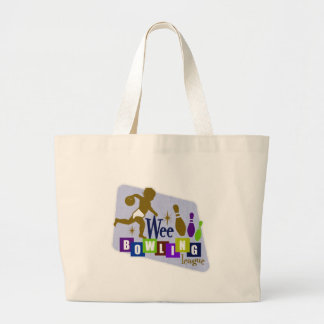 Wee Bowling League Large Tote Bag