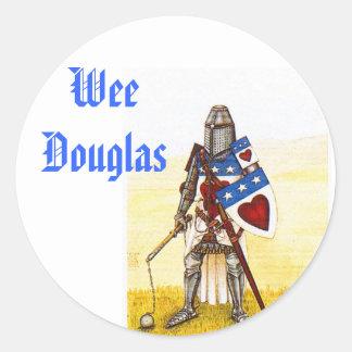 Wee Clan Douglas Stickers - Customized