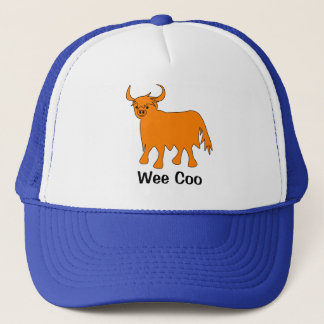 """""""Wee Coo"""" Highland Cow hat design"""