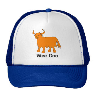 """Wee Coo"" Highland Cow hat design"