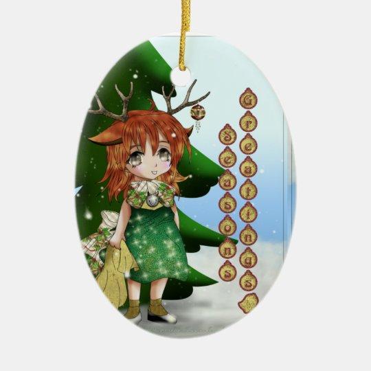 Wee Deer Ceramic Ornament