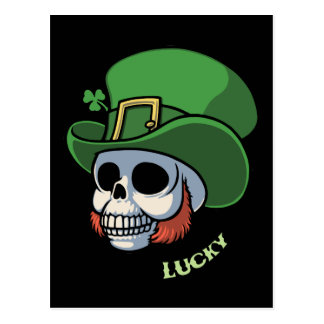 Wee Leprechaun Skull Postcard