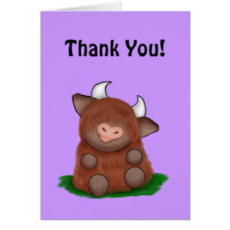 Wee Moo - Thank You Cards