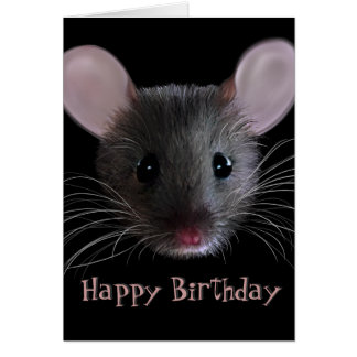Wee Mouse Happy Birthday Greeting Card