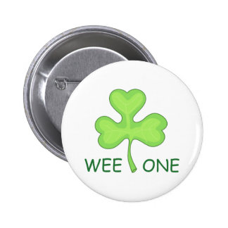 WEE ONE CLOVER PINBACK BUTTON