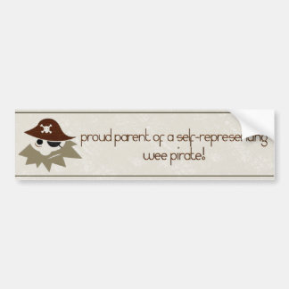 Wee Pirate Proud Pirate Parents Bumper Sticker