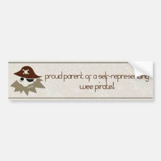 Wee Pirate Proud Pirate Parents Bumper Sticker