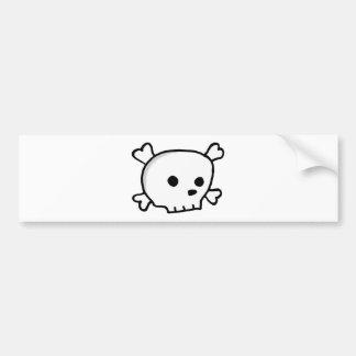 Wee pirate skull bumper sticker