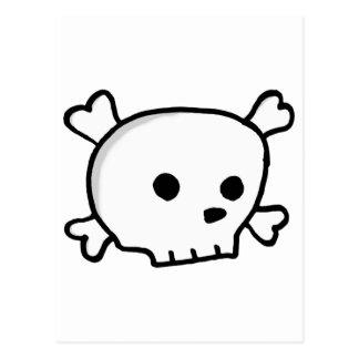 Wee pirate skull postcard