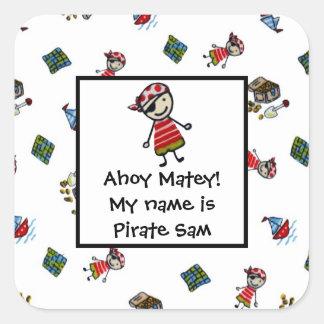 Wee Pirates Square Sticker